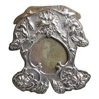 Sterling Silver Photograph Frame Art Nouveau Birmingham 1910