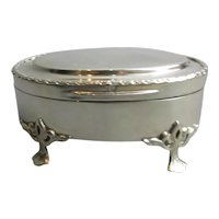 Sterling Silver Trinket Box Antique Edwardian Birmingham 1905