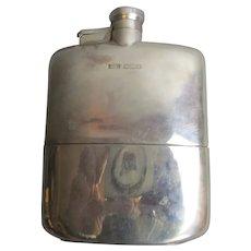 Sterling Silver Hip Flask Art Deco 1922