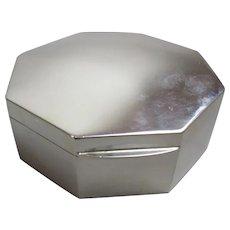 Sterling Silver Trinket Box Art Deco Chester 1921