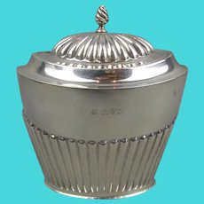 Sterling Silver Tea Caddy Antique Edwardian Chester 1911