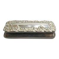 Sterling Silver Trinket Box Antique Victorian Birmingham 1900