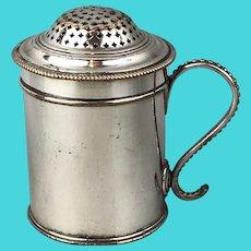 Silver Plate Old Sheffield Kitchen Pepper Pot Georgian Antique c1800