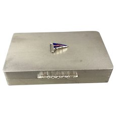 Padgett & Braham Ltd Sterling Silver Card Holder Yacht Club Vintage c1966