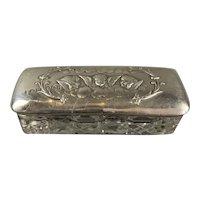 Cherub Sterling Silver Top Glass Box Antique Art Deco Birmigham 1905 By Henry Matthews