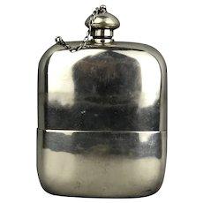 Silver Plate Thomas WIlkinson Hip Flask Victorian Antique c1890