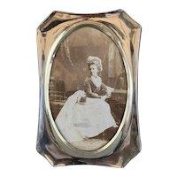 Sterling Silver Frame With Velvet At The Back Antique Art Nouveau Period Birmingham 1909
