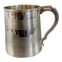 Sterling Silver Tankard Made By Henry Holland Antique Victorian London 1865