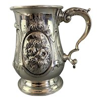Sterling Silver Tankard Made By A. P. Antique Victorian London 1864