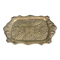 Sterling Silver Calling Card Tray Antique Chester Art Nouveau 1906