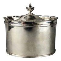 Silver Plate Tea Caddy Antique Edwardian c1910
