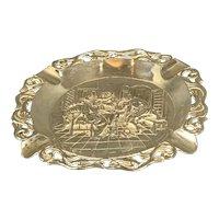 Dutch Sterling Silver Ashtray Antique Art Nouveau c1900