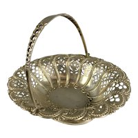 Sterling Silver Bon Bon Dish By Atkin Brother Antique Victorian Sheffield 1893