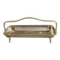 Silver Plate Long Bon Bon Dish Vintage Art Deco c1930