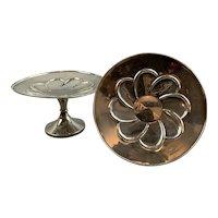 Pair Of Sterling Silver bon Bon Dish antique Art Nouveau Birmingham 1911
