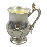 Small Silver Plate Christening Mug Antique Victorian c1900