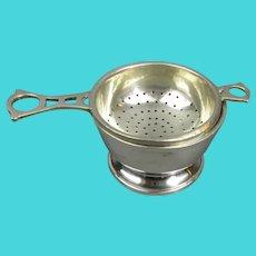 Sterling Silver Tea Strainer Vintage Mid Century Birmingham 1946
