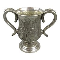 Silver Plate Double Handled Goblet Antique Victorian c1890