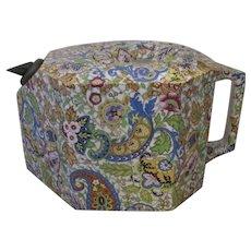 Ceramic Chintz Teapot With A Patent Non Drip Spout Art Deco C1922.