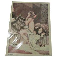 German Weimar Republic Glamour Print Vintage c.1922.