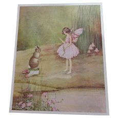 Print Of Illustration For Bunny And Brownie Vintage c.1930.