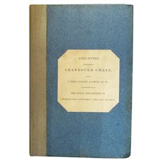 'Anecdotes Respecting Cranbourn Chase' Antique Book by Pitt Rivers Reprint c1886.