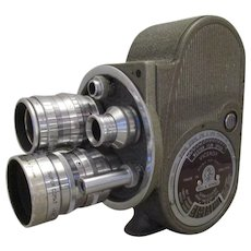 Vintage Bell & Howell 8mm Cine Camera in Case c1950s.
