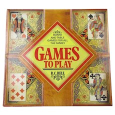 Games To Play Board And Table Games Vintage 1988.