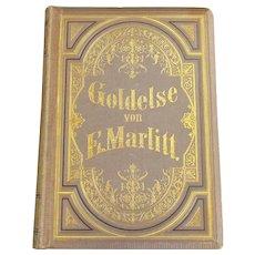 German Goldelse By E. Marlitt Book Antique Victorian c.1871