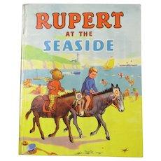 Rupert At The Seaside Vintage 1952.
