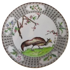 Royal Worcester Pheasant Plate Antique c1908
