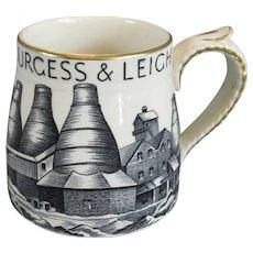 Burslem Industrial Centenary Mug Vintage c1951