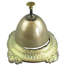 Brass Shop Counter Bell Antique Edwardian c1910