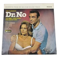 "Original Soundtrack 7"" EP James Bond Dr. No Vintage 1962"
