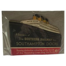 Southern Railway 'Southampton Docks' Book Published 1933 Vintage Art Deco