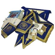 Group of Masonic Regalia Bedford Park Lodge Sussex Vintage c1940-80