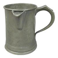 Quart Pewter Tankard Antique Victorian c1878