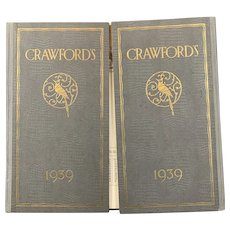 Crawfords Biscuits Advertising Desktop Diary And Blotter Vintage c1939