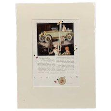 Original Motor Advert Name The Cadillac Vintage Art Deco c1928