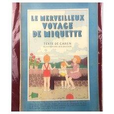 French Magazine Miquette Text Caren lllustrations Baucour Vintage c1937