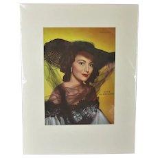 Photoplay Magazine Cover of Actress Olivia De Havilland Vintage c1955