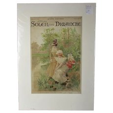 Soleil Du Dimanche Magazine Cover Antique c1899