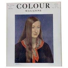Colour Magazine Cover Title Sheilah By Dod Proctor Antique Art Deco 1919