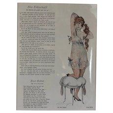 German Glamour Illustration Die Erbschaft Vintage c1922
