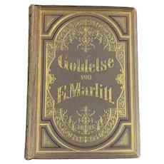 German Book Title Goldelle By E. Marlitt Antique c1890