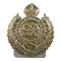 George VI WW2 Gilded Brass Royal Engineers Stand Vintage c1940