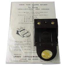 Bakelite Egg Grading Machine Vintage Mid Century c1940.