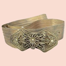 Beautiful Antique Edwardian Indian Wire Work Filigree Ladies Belt.