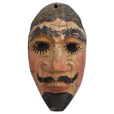 Small Vintage Carved Guatemalan Monkey Dance Mask.