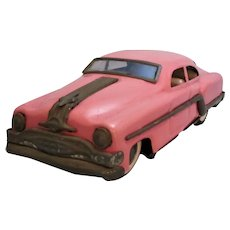 Tin Plate Diecast Toy Pink Cadillac Vintage 20th Century.